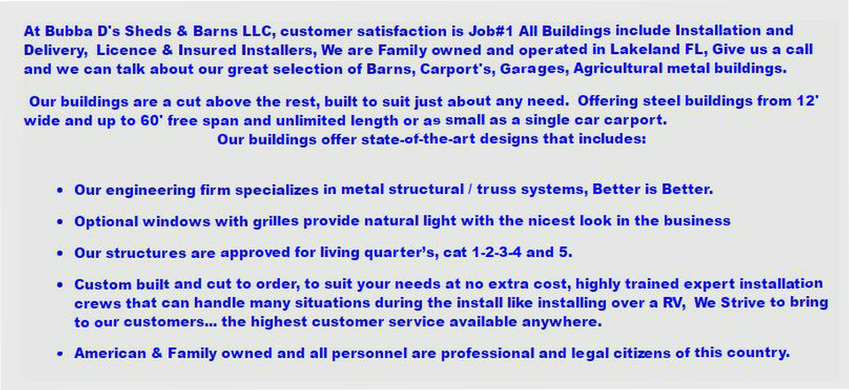 Free garage building plans detached wholesale Car Garage Metal Buildings Are Sold In Or Near The Cities Of Alans Factory Outlet Bubba Ds Sheds Barns Llc